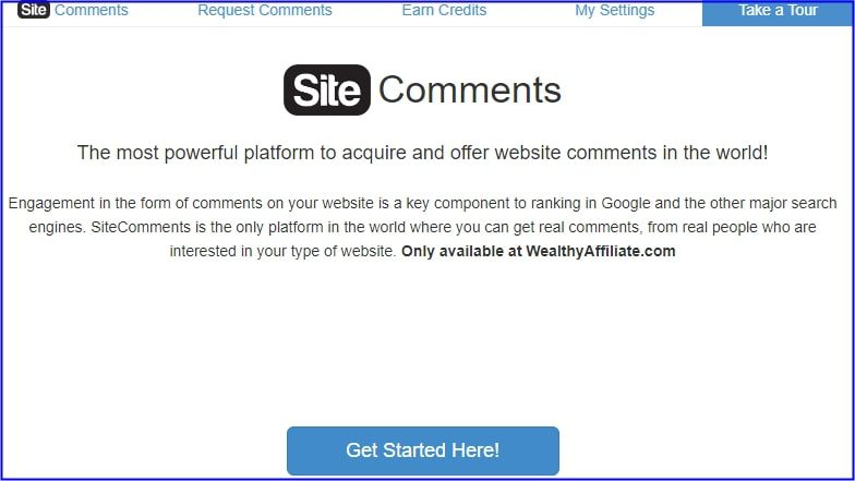 Site Rubix - Site Comments