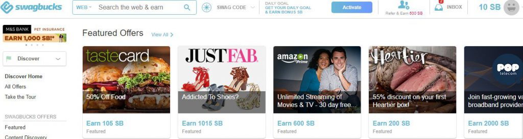 Swagbucks - Discover deals and redeem points