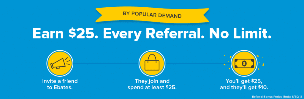 Ebates refer a friend