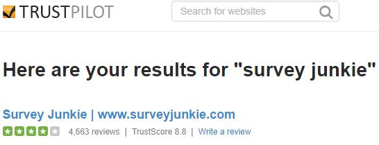 Survey junkie trust pilot reviews