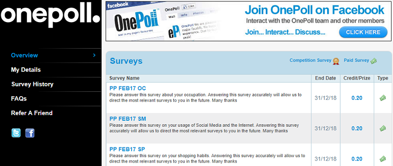 OnePoll Survey Panel