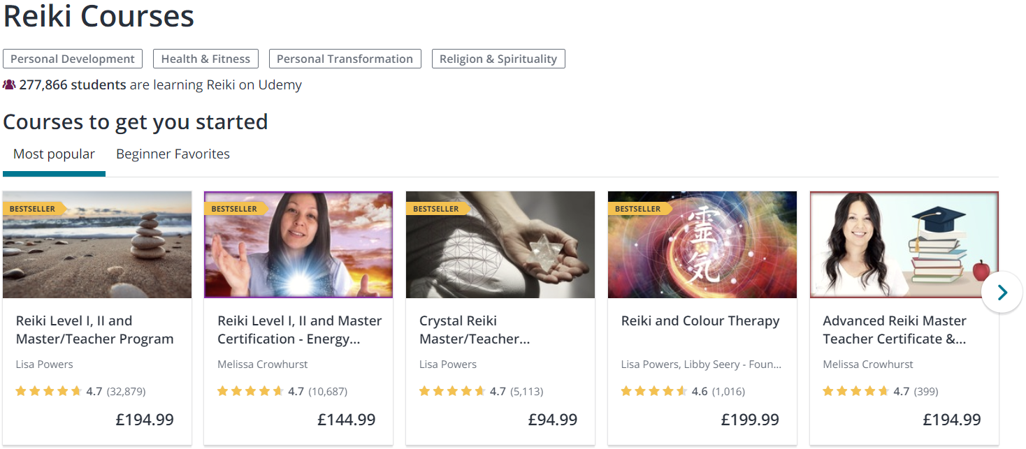 Udemy Reiki Courses
