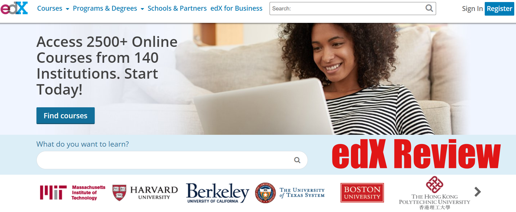 edx review - e-learning home study coming from MIT and Harvard