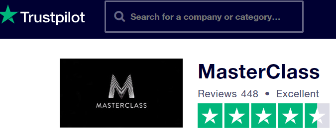 MasterClass reviews -TrustPilot
