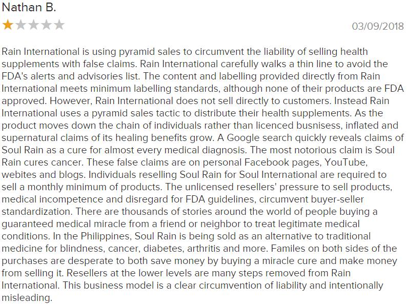 Rain international reviews #1