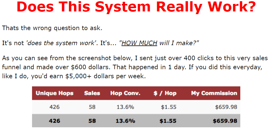 Does the $5K formula system really work