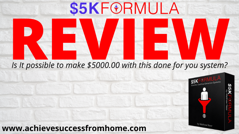 What is the 5K Formula System? - DFY Systems PROMISE you so much but deliver so LITTLE!