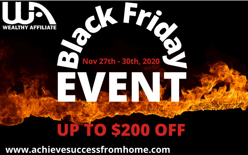 Wealthy Affiliate Black Friday Special Review