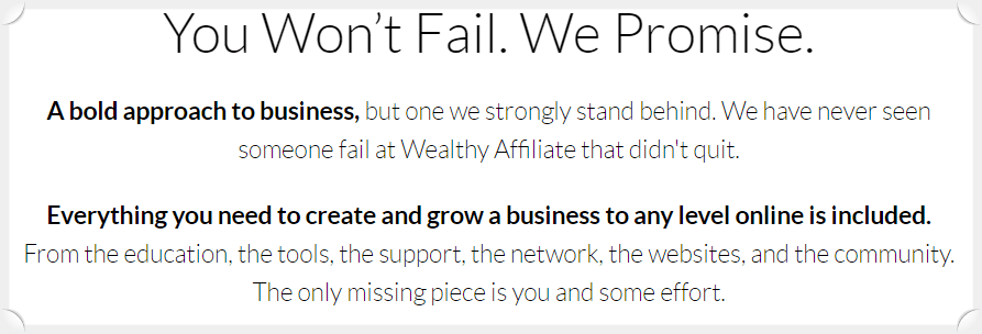 Wealthy Affiliate Black Friday Special - you won't fail