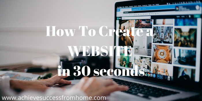 How online affiliate marketing works - How To Create a Website in 30 seconds
