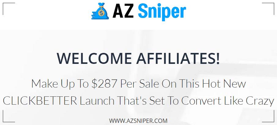 AZ Sniper Review - Affiliate commissions