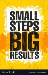 How to be successful at affiliate marketing - Small Steps. Big Results