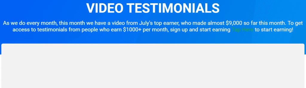 Cloutshout Review - No video testimonials