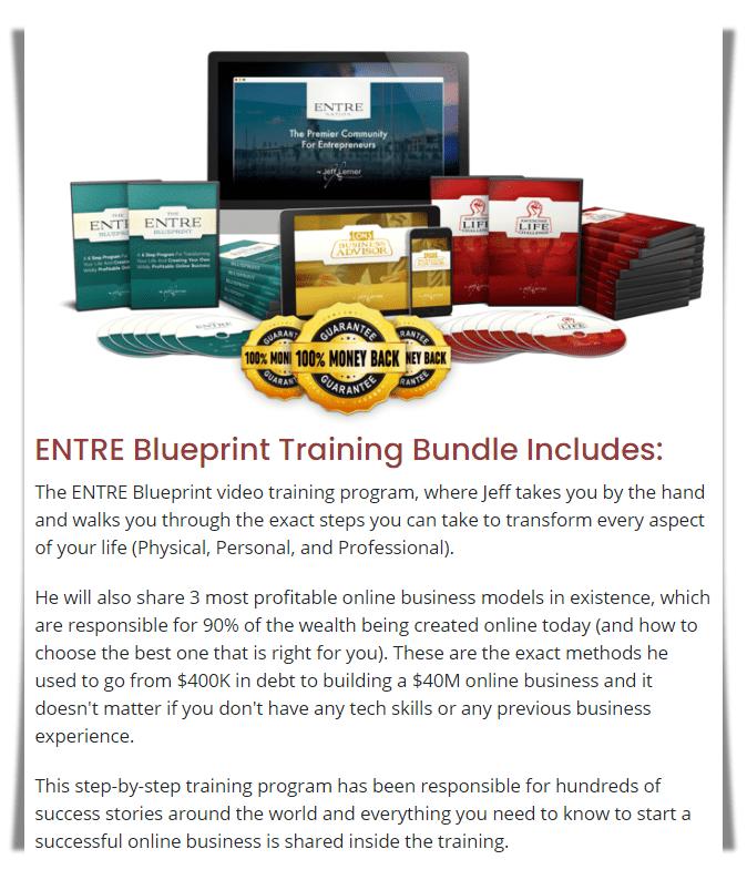 Copy The Millionaire Review - Entre Blueprint bundle