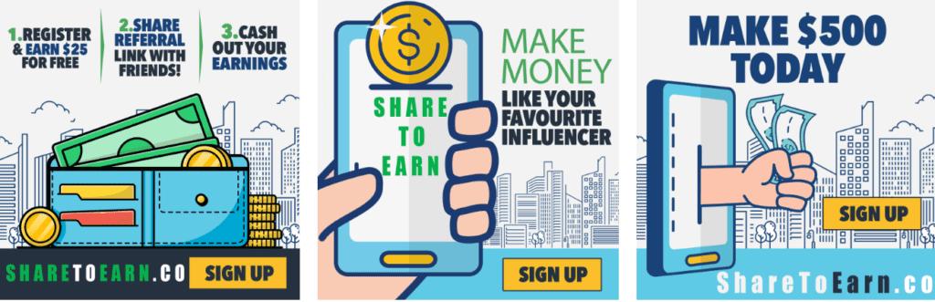 ShareToEarn Review - share and earn