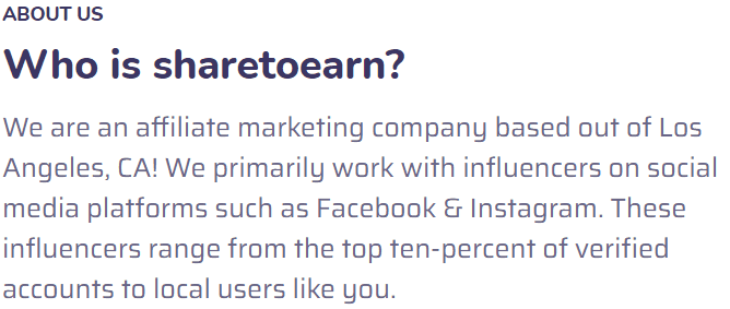 ShareToEarn Review - where they are located #2