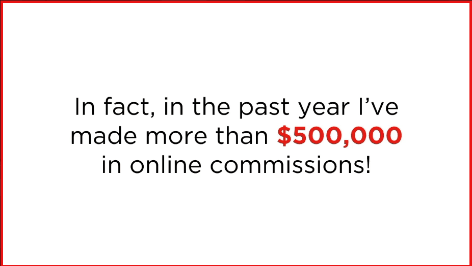 The commission code review - $500k within a year