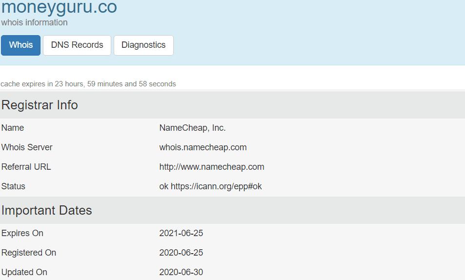 is moneyguro a scam - registration date