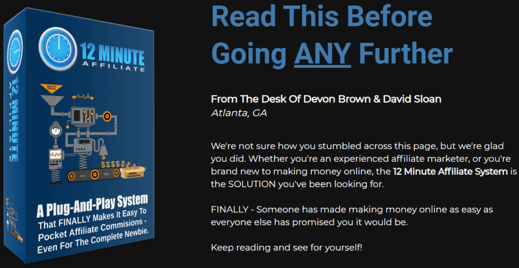 is the 12 minute affiliate a scam - Read this first
