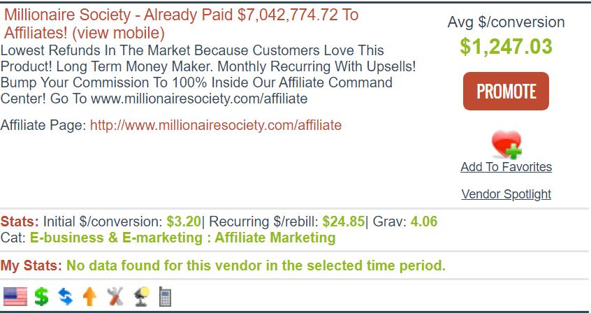 millionaire society review - clickbank