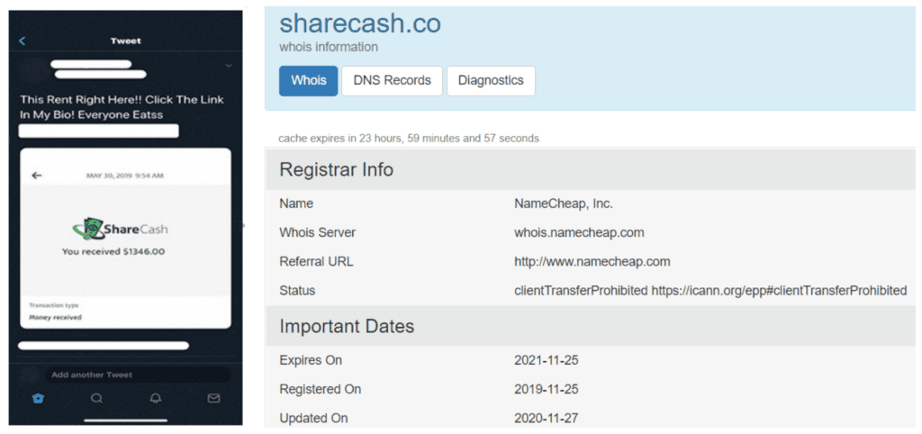 what is the sharecash scam - Fake payment-side