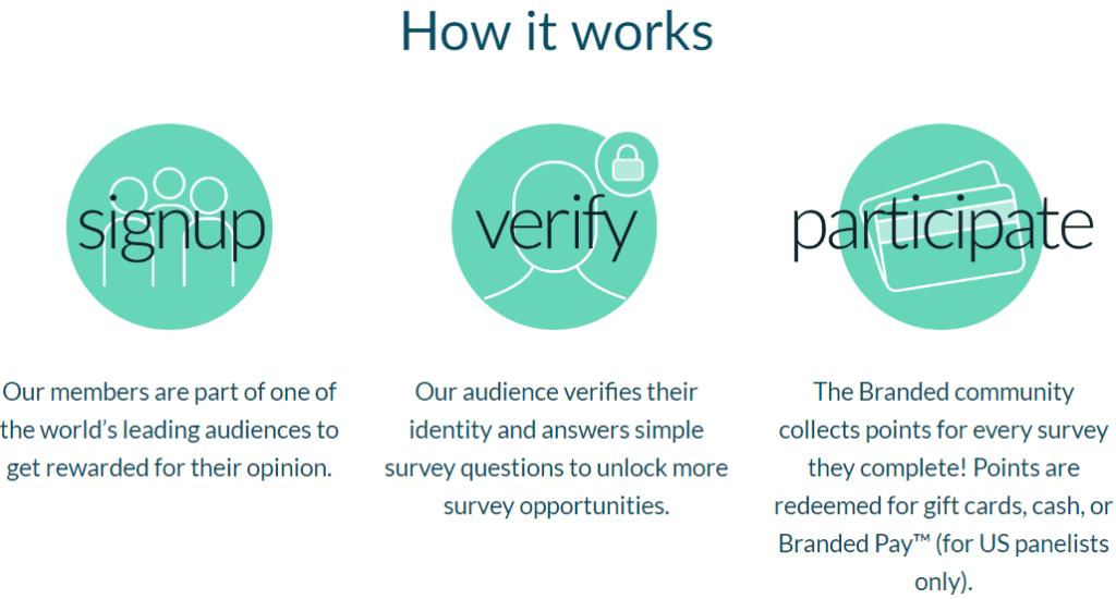 Branded Surveys Reviews - How it works