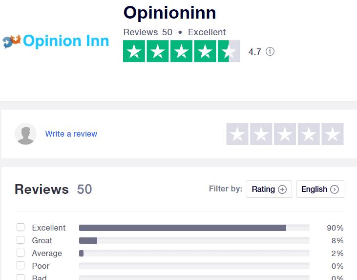 Opinion Inn Review - TrustPilot