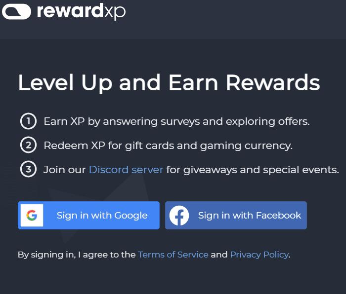 Reward XP review - Reward XP login
