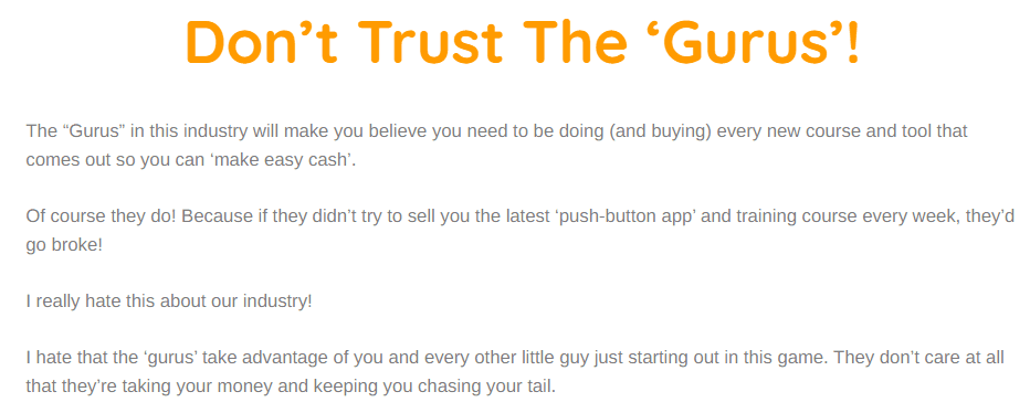 simple traffic blueprint review - Don't trust the gurus