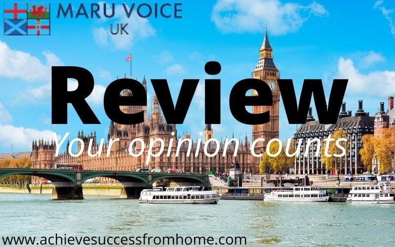 Maru Voice UK Review - Expect a maximum of 4 surveys a month.