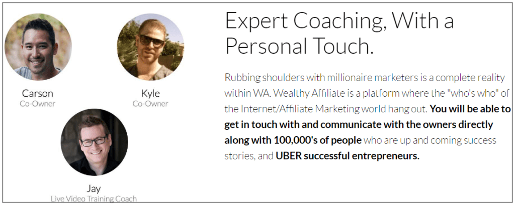 What about the wealthy affiliate community - Expert coaching