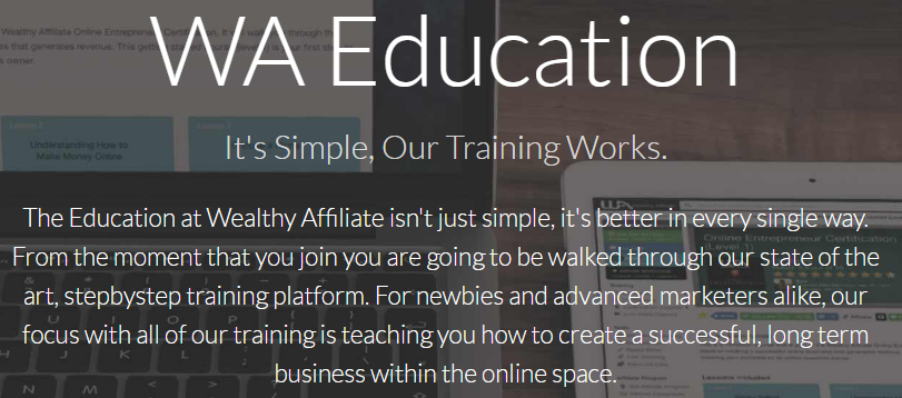 What about the wealthy affiliate community - education