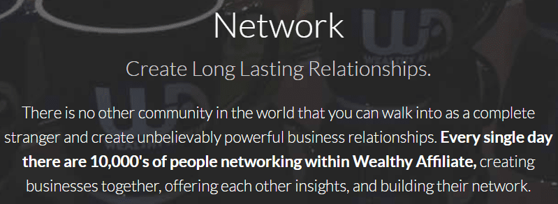 What about the wealthy affiliate community - networking