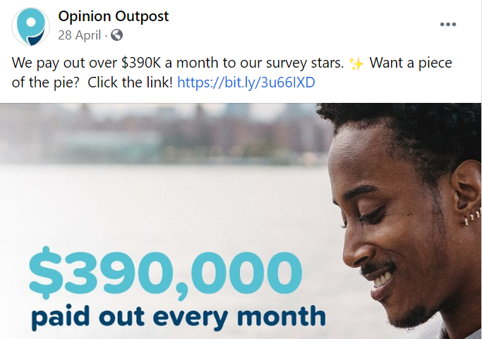 what is the Opinion Outpost review - Paid out each month