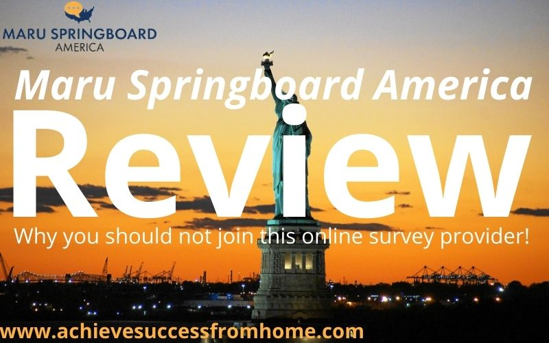 Springboard America Review - With $50 cash out threshold and 4 surveys a month, what do you think?