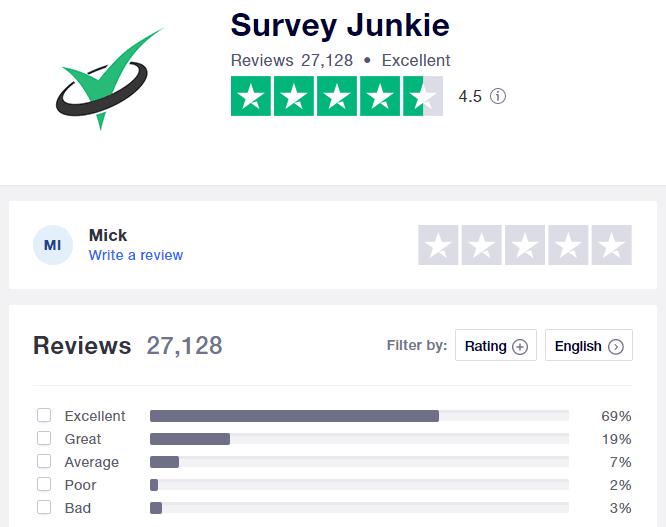 Survey Junkie Review 2021 - Survey Junkie trustpilot rating