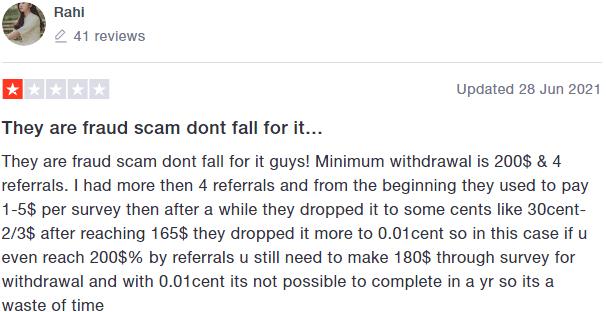 Tapinbox review - TrustPilot review #1