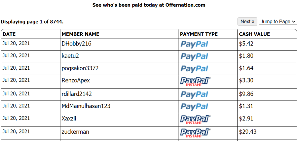 What is the OfferNation Scam - Payment proof