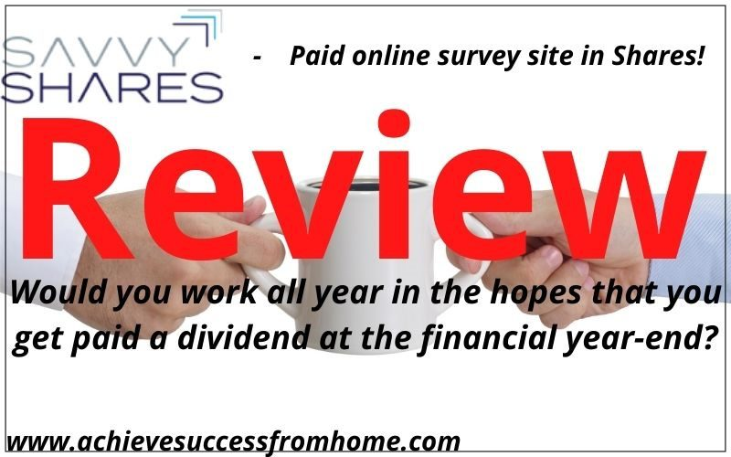 SavvyShares Review - Can you really work for nothing in the hopes of a dividend at year-end?