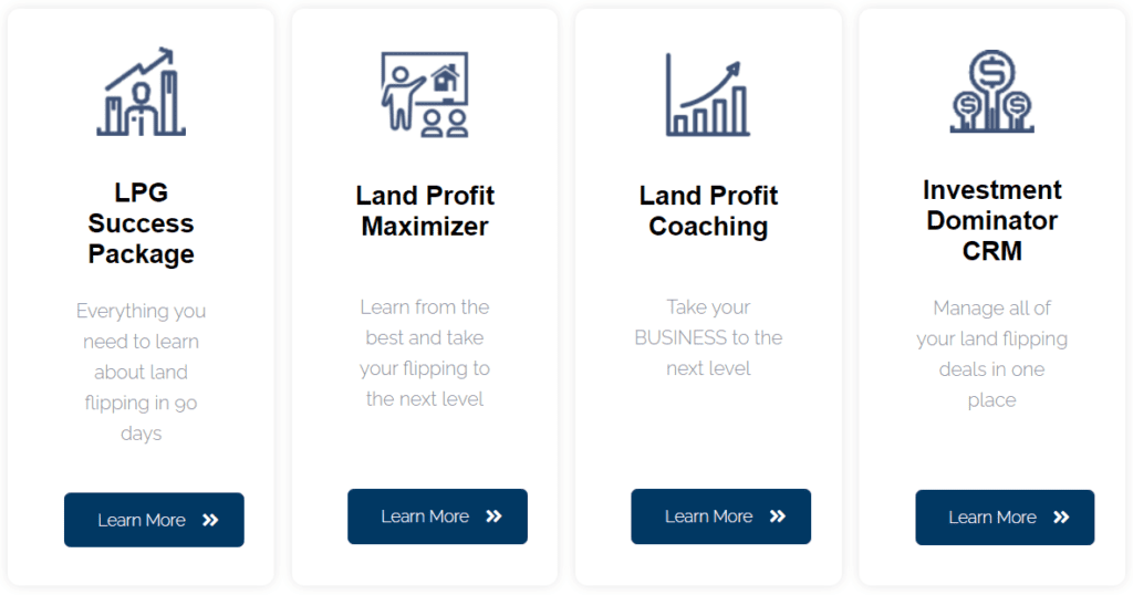 Land Profit Generator Review - Different packages